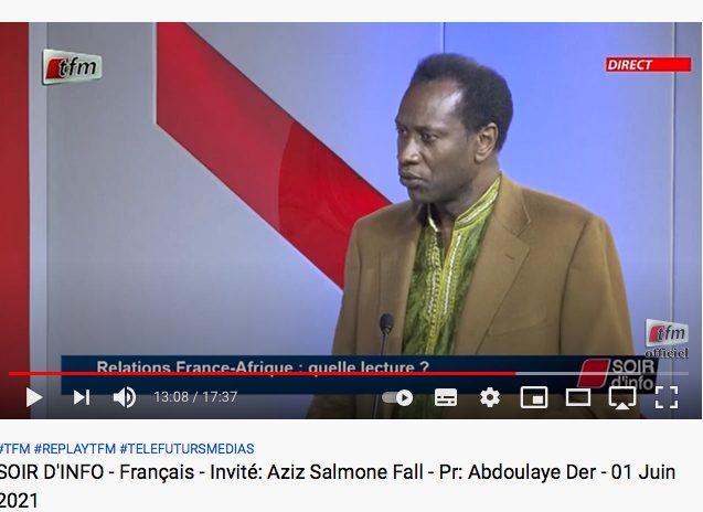 Entrevue Tfm télé sénégalaise